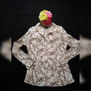 EAST 5TH FLORAL PRINT WRINKED BLOUSE SIZE XL